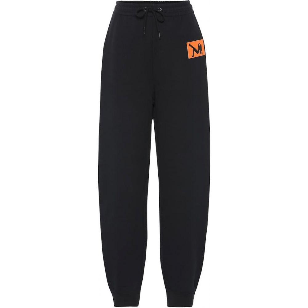 カルバンクライン Calvin Klein Jeans Est. 1978 レディース スウェット・ジャージ ボトムス・パンツ【Cotton-blend trackpants】black/orange icon