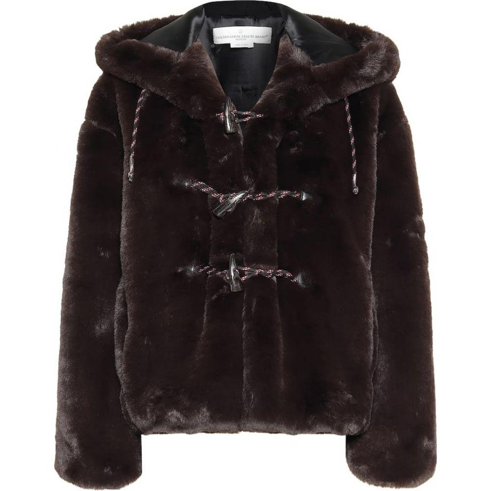 ゴールデン グース Golden Goose レディース ジャケット アウター【Tsubaki faux fur jacket】Deep Brown