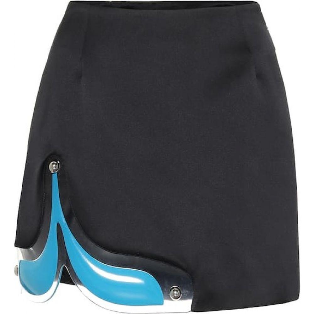 クリストファー ケイン Christopher Kane レディース ミニスカート スカート【PVC-trimmed miniskirt】Black