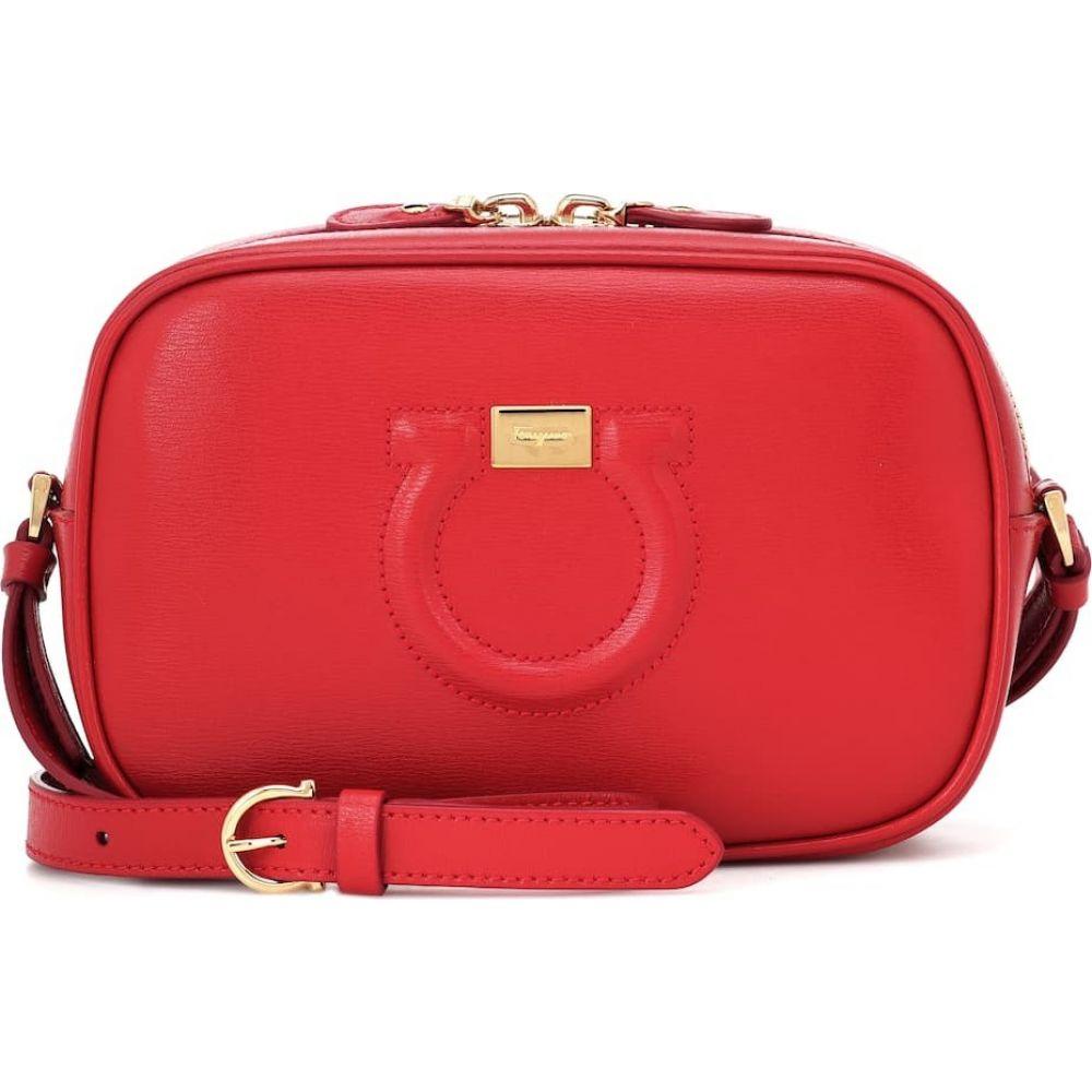 サルヴァトーレ フェラガモ Salvatore Ferragamo レディース ショルダーバッグ バッグ【City Goncho leather shoulder bag】Lipstick Gancio
