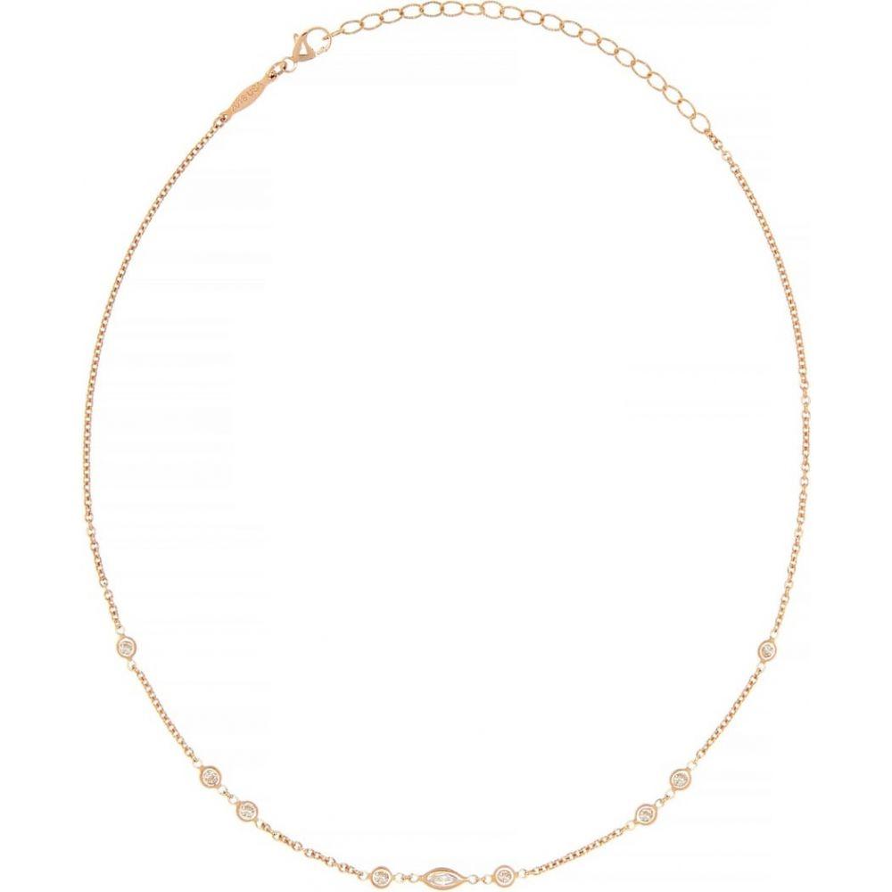 ジャッキーアイチェ Jacquie Aiche レディース ネックレス ジュエリー・アクセサリー【Marquise 14kt rose gold and diamond necklace】
