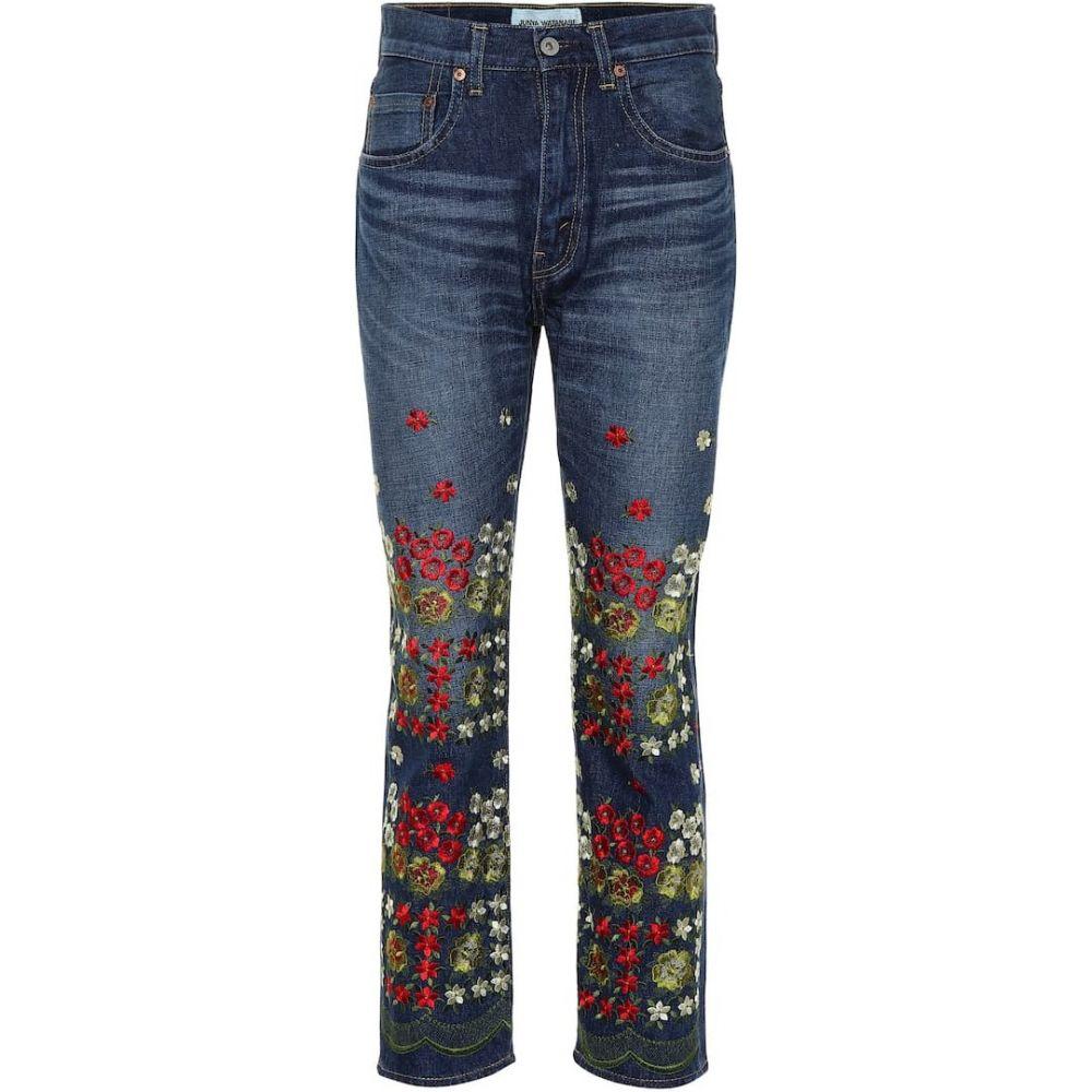 ジュンヤ ワタナベ Junya Watanabe レディース ジーンズ・デニム ボトムス・パンツ【Embroidered jeans】Indigo