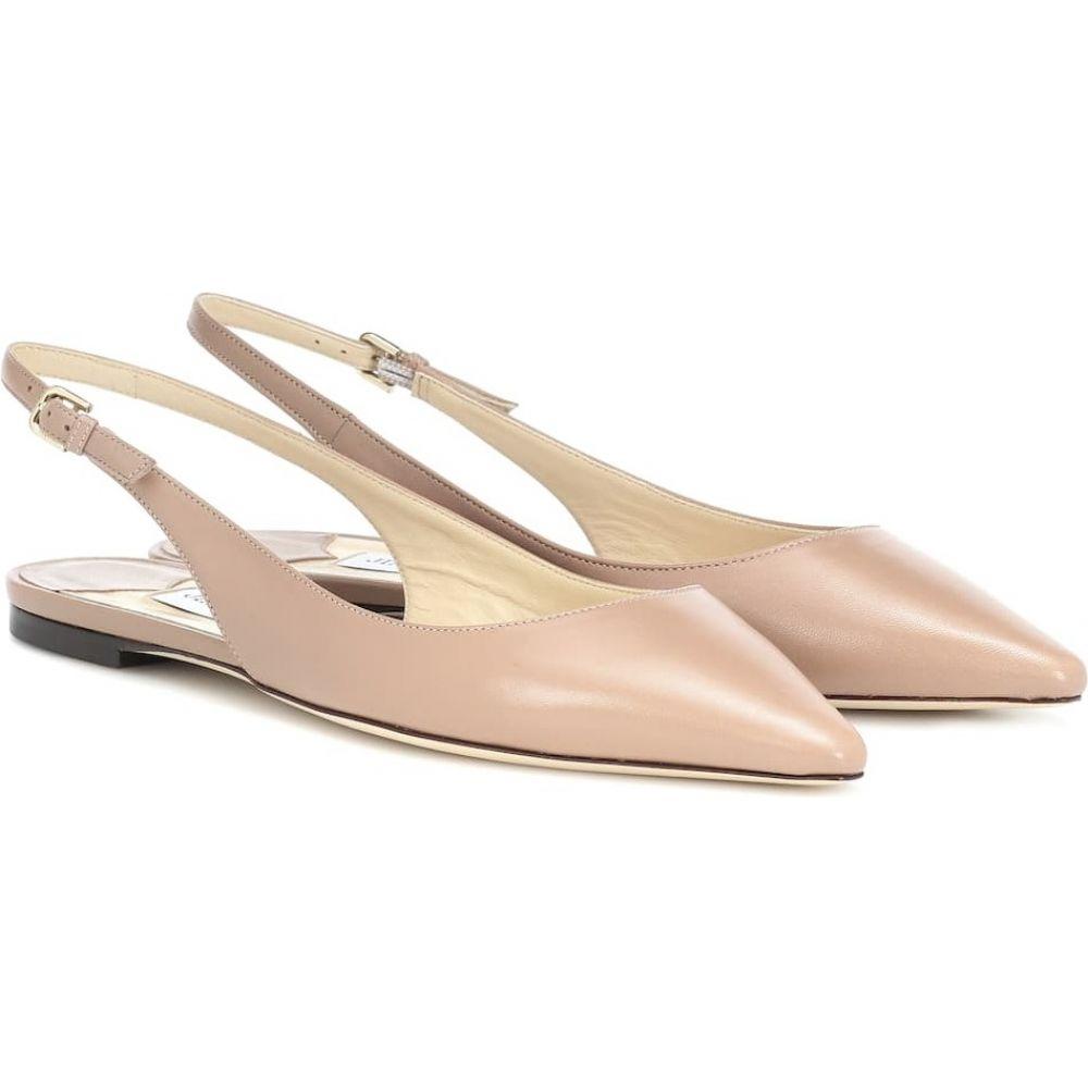 ジミー チュウ Jimmy Choo レディース スリッポン・フラット シューズ・靴【Erin leather slingback ballet flats】Ballet Pink