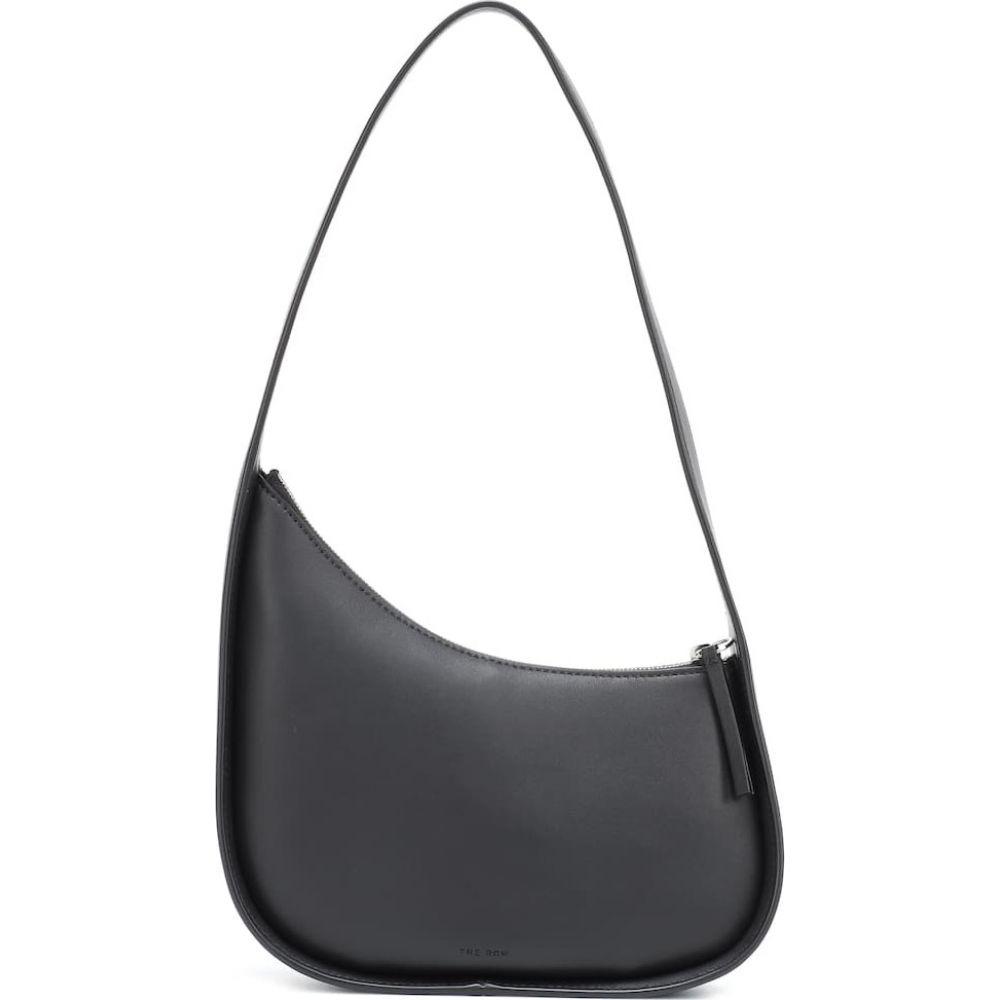 ザ ロウ The Row レディース ショルダーバッグ バッグ【Half Moon leather shoulder bag】Black Pld