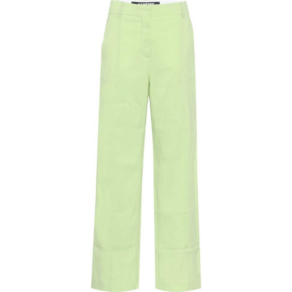 ジャックムス Jacquemus レディース ボトムス・パンツ 【Le Pantalon Estero wide-leg pants】Green