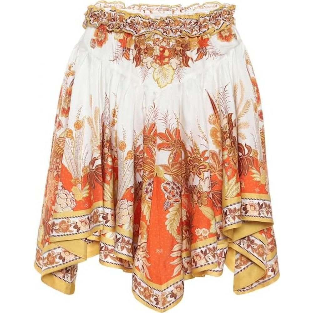 ジマーマン Zimmermann レディース ミニスカート スカート【Brightside printed silk-twill miniskirt】Gold Phoenix