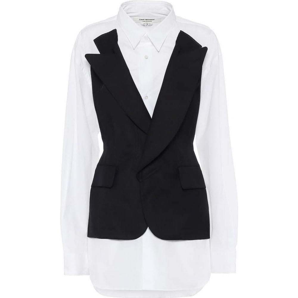ジュンヤ ワタナベ Junya Watanabe レディース スーツ・ジャケット アウター【Cotton and wool-blend blazer shirt】Navyxwhite