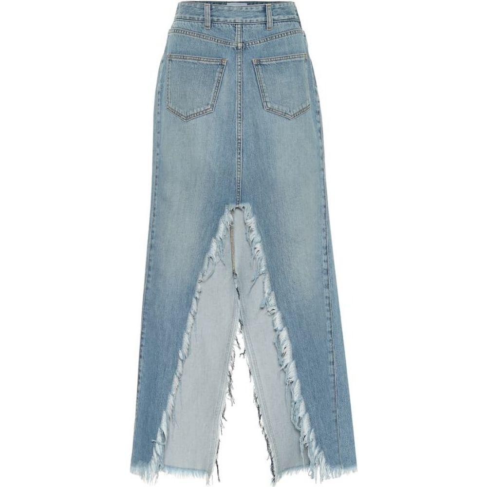 ジバンシー Givenchy レディース ひざ丈スカート デニム スカート【Denim midi skirt】Light Blue