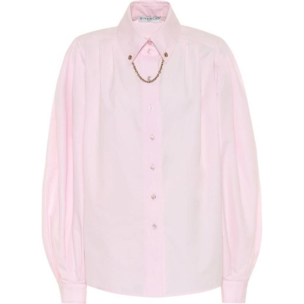 ジバンシー Givenchy レディース ブラウス・シャツ トップス【Embellished cotton shirt】Pink