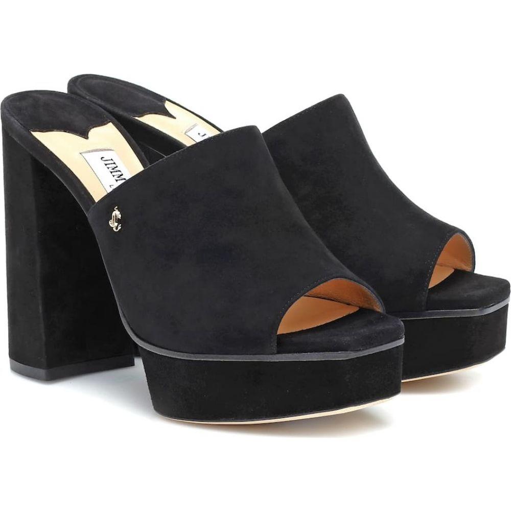 ジミー チュウ Jimmy Choo レディース サンダル・ミュール シューズ・靴【Bethen 115 suede platform sandals】Black