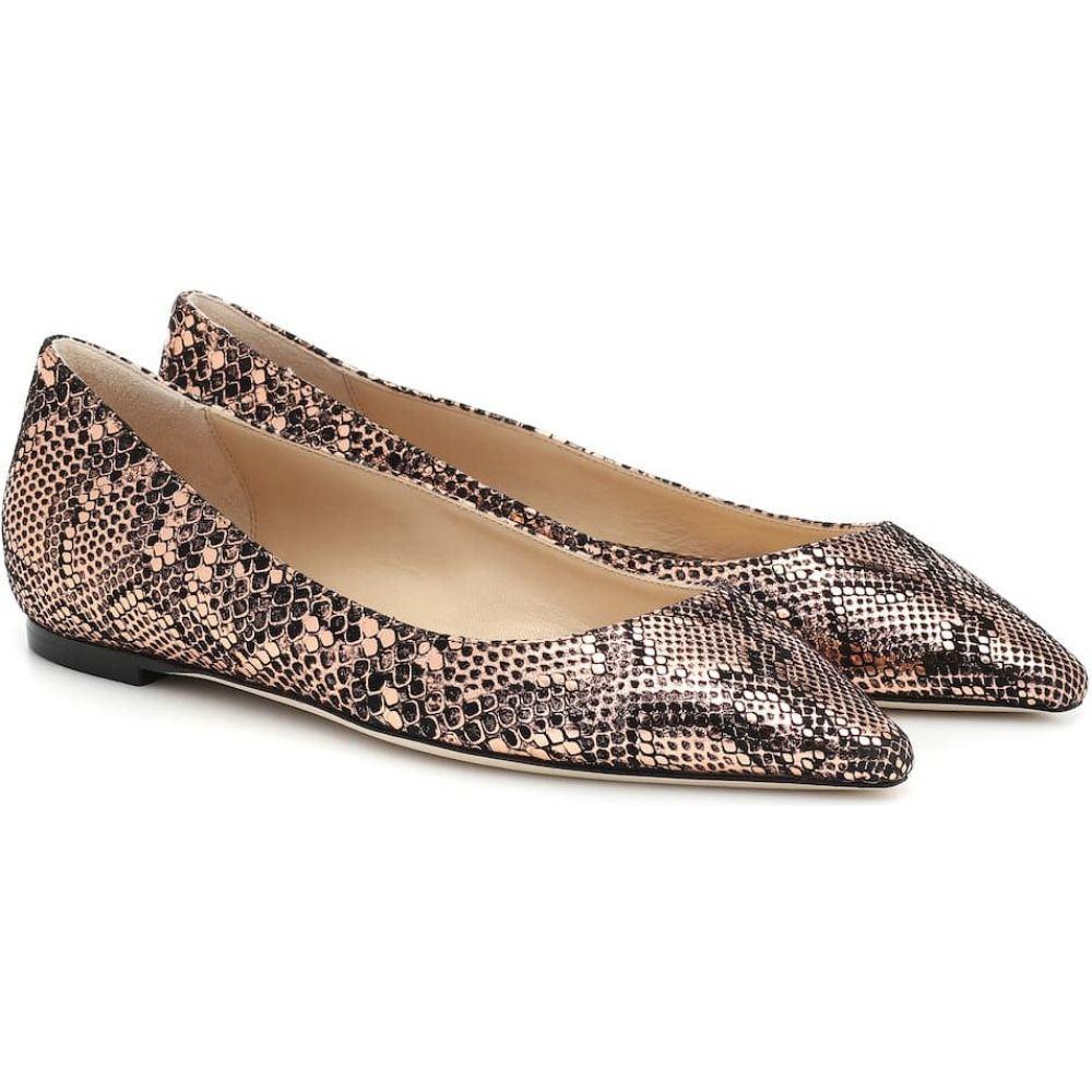 ジミー チュウ Jimmy Choo レディース スリッポン・フラット シューズ・靴【Romy snake-effect leather ballet flats】Copper