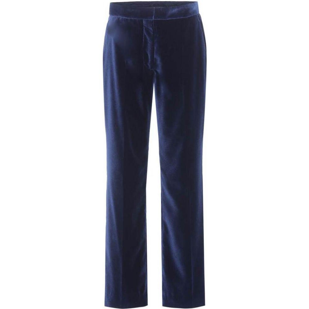 ステラ マッカートニー Stella McCartney レディース ボトムス・パンツ 【Velvet trousers】Ink