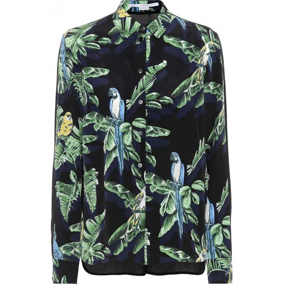 ステラ マッカートニー Stella McCartney レディース ブラウス・シャツ トップス【Printed silk shirt】Black