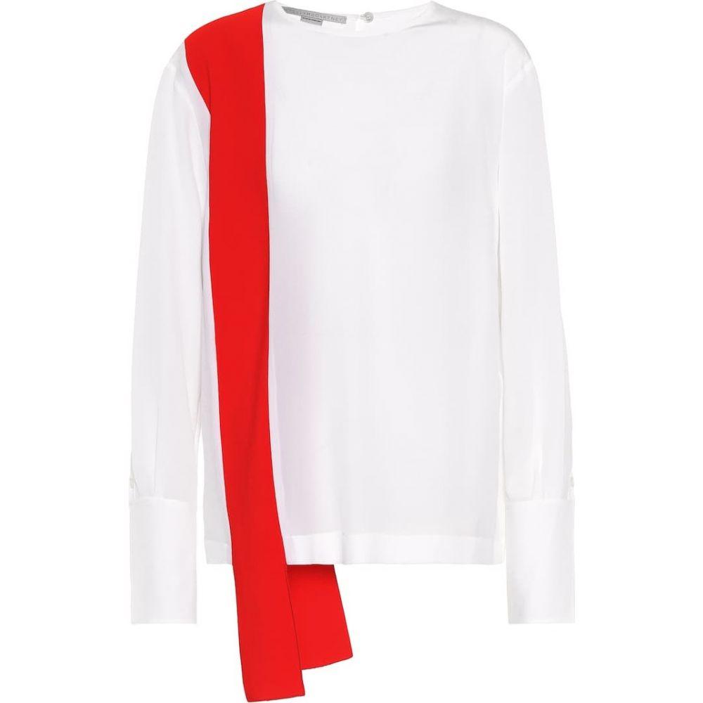 ステラ マッカートニー Stella McCartney レディース ブラウス・シャツ トップス【Panelled silk blouse】Pure White