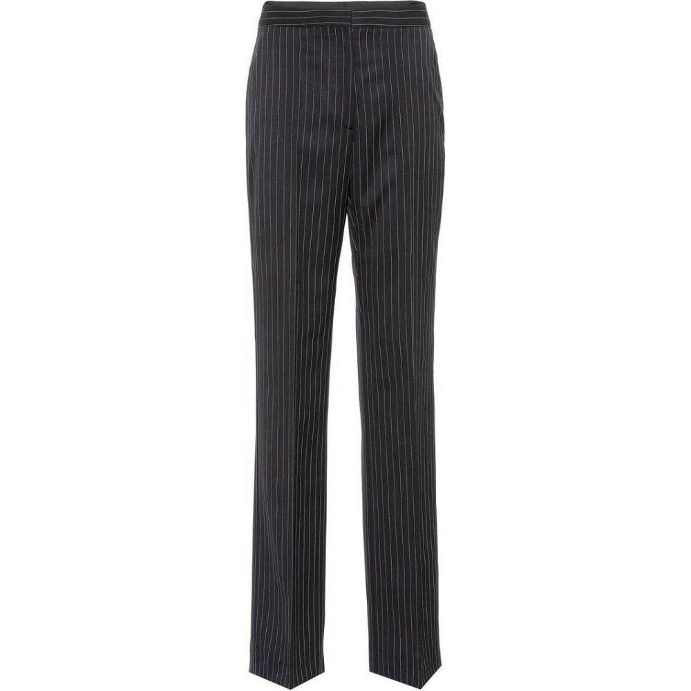 ステラ マッカートニー Stella McCartney レディース ボトムス・パンツ 【Pinstriped wool trousers】Ink