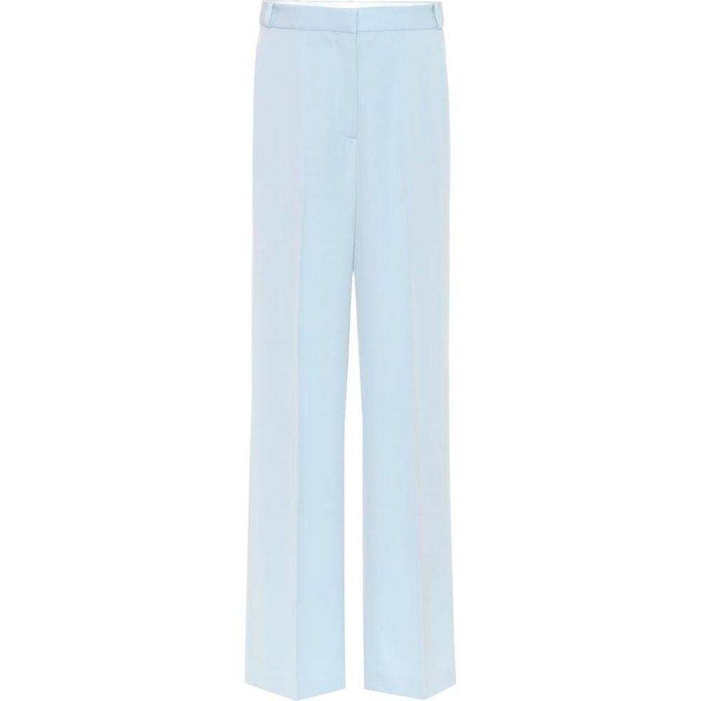 ステラ マッカートニー Stella McCartney レディース ボトムス・パンツ 【Wool wide-leg pants】Angel Blue