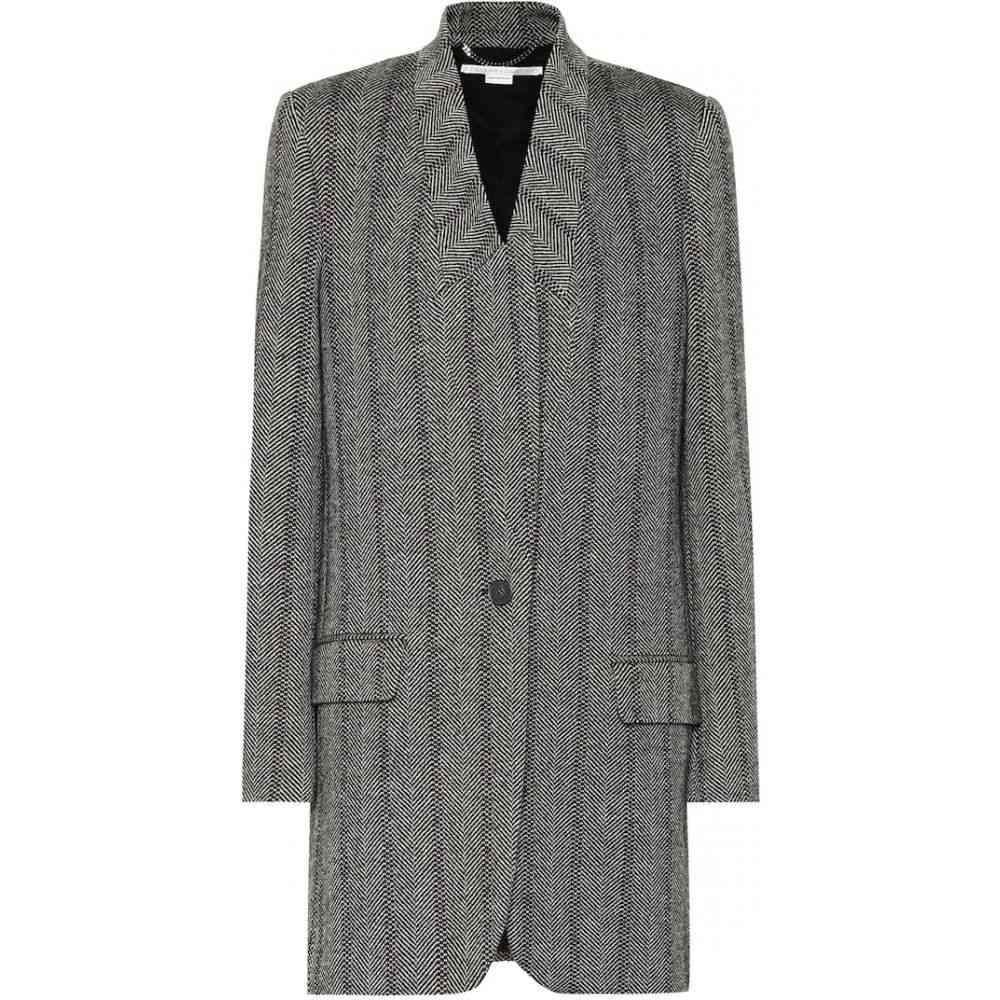 ステラ マッカートニー Stella McCartney レディース コート アウター【Herringbone wool-blend coat】black