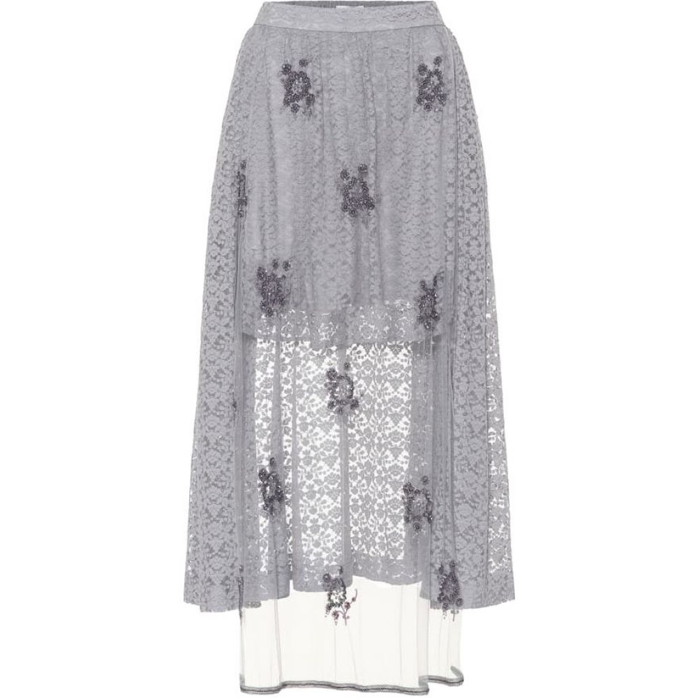 ステラ マッカートニー Stella McCartney レディース スカート 【Embellished lace skirt】light dumbo grey
