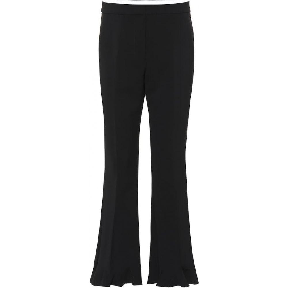 ステラ マッカートニー Stella McCartney レディース ボトムス・パンツ 【High-rise flared stretch-wool pants】black