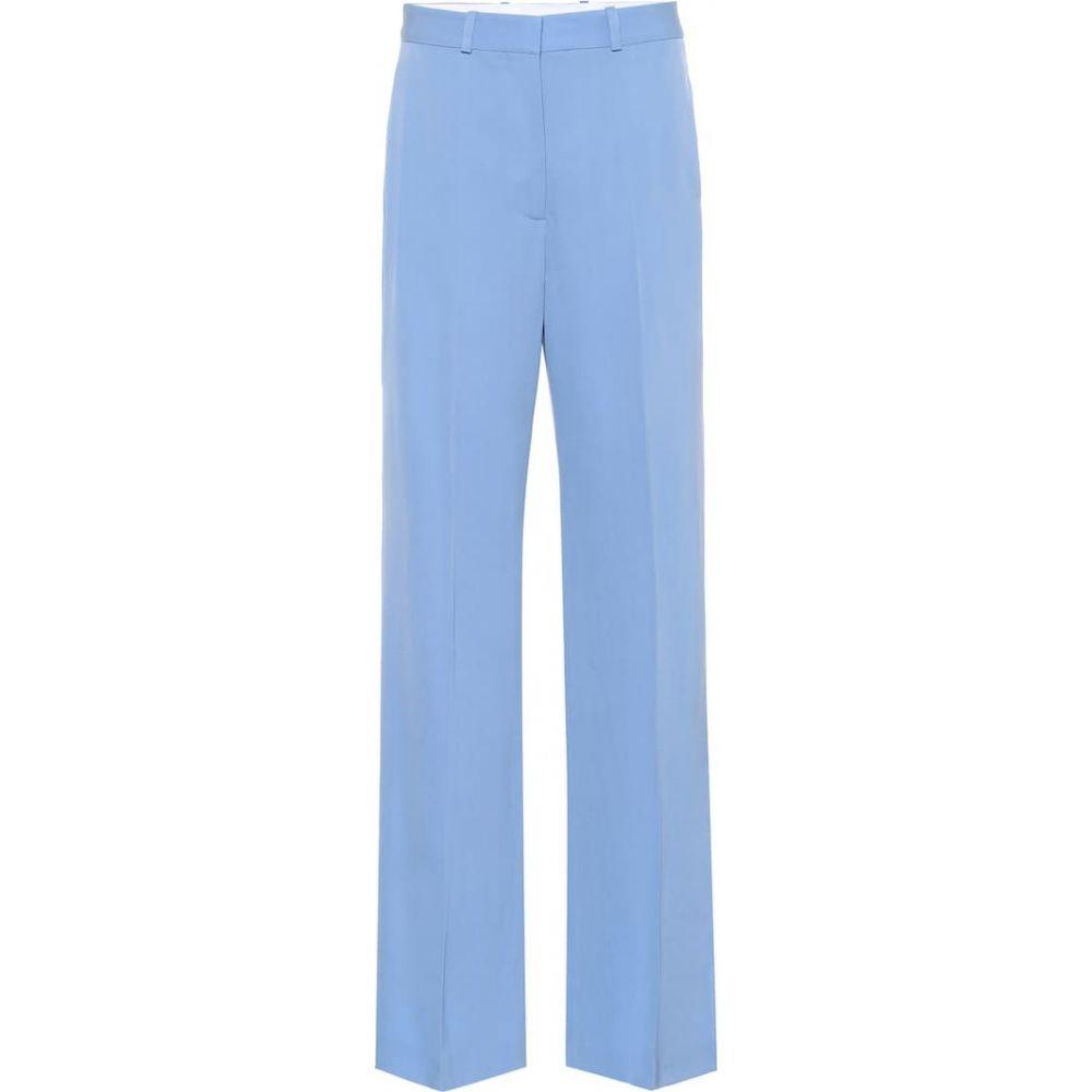ステラ マッカートニー Stella McCartney レディース ボトムス・パンツ 【Wool wide-leg pants】Blue Boat
