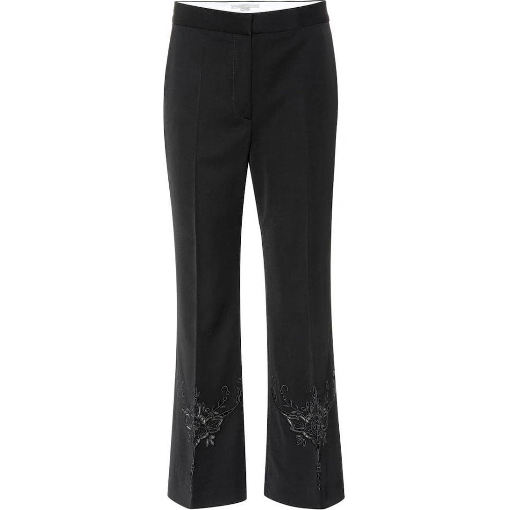ステラ マッカートニー Stella McCartney レディース ボトムス・パンツ 【Alissa embroidered wool pants】black