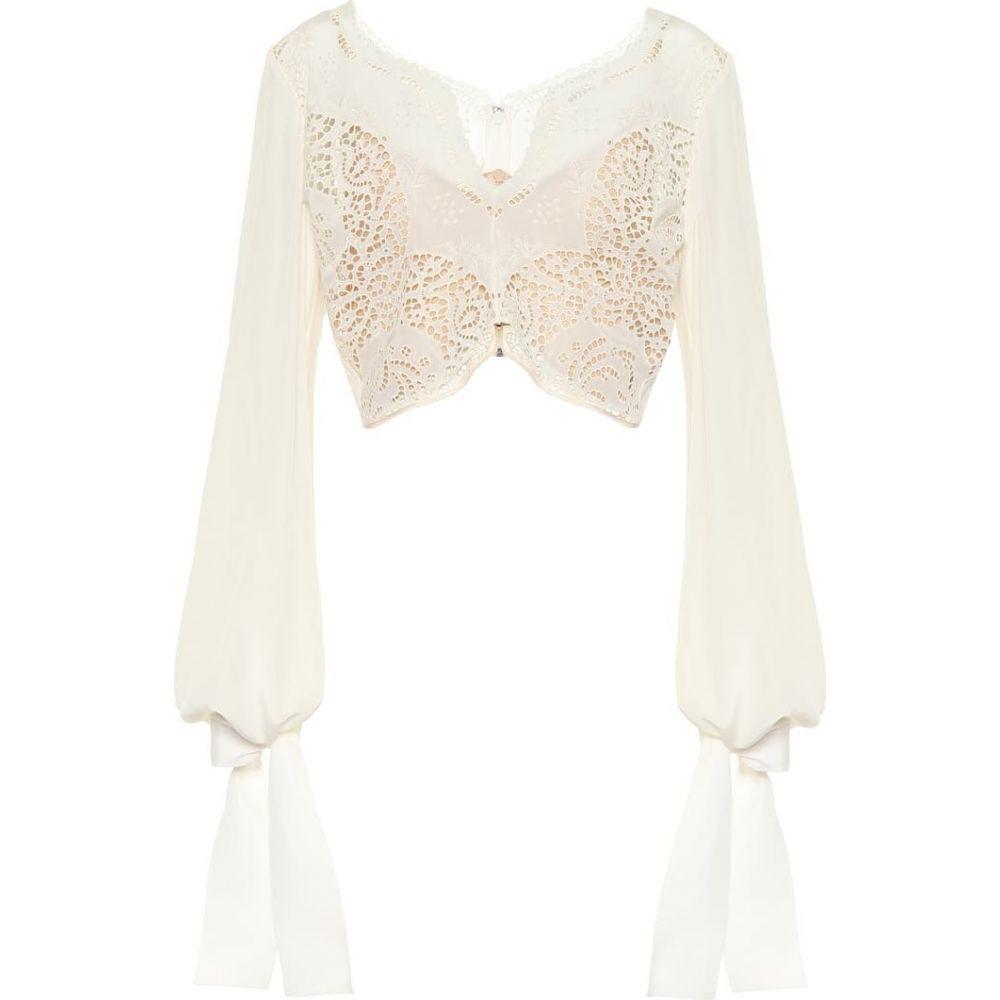 ステラ マッカートニー Stella McCartney レディース トップス 【Embroidered silk top】natural