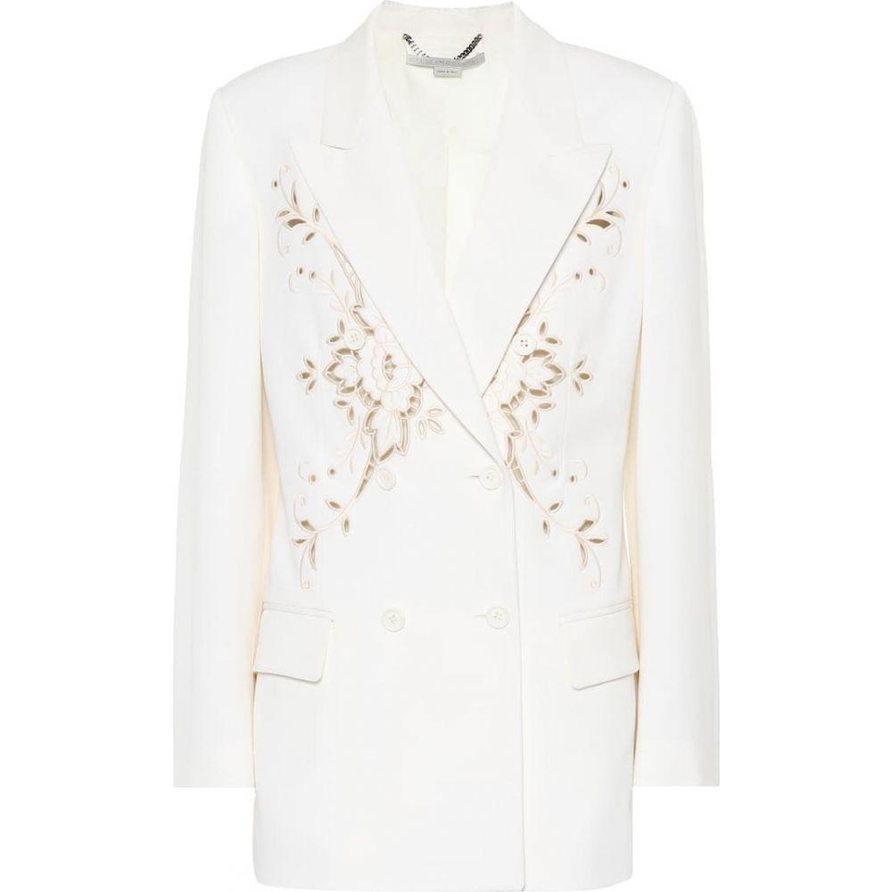 ステラ マッカートニー Stella McCartney レディース スーツ・ジャケット アウター【Embroidered wool blazer】ivory