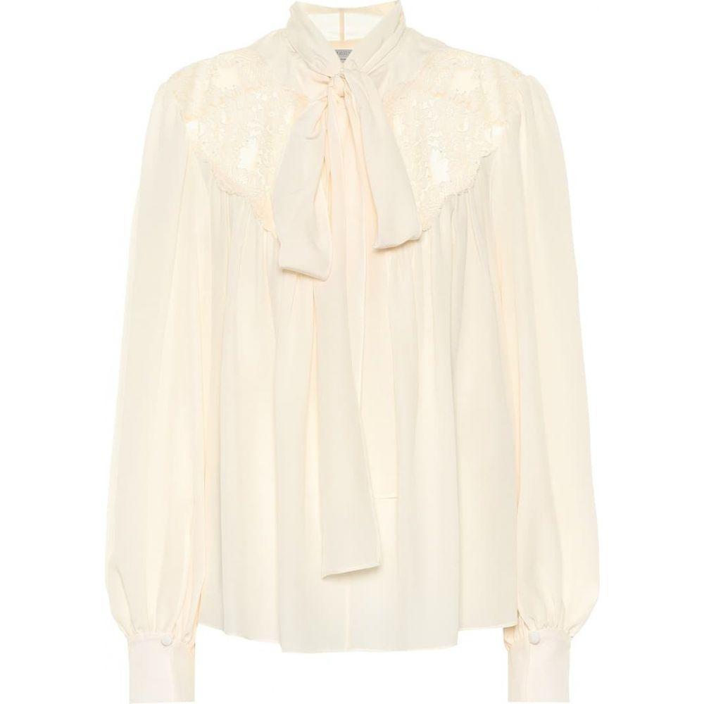 ステラ マッカートニー Stella McCartney レディース ブラウス・シャツ トップス【Silk crepe de chine blouse】Natural