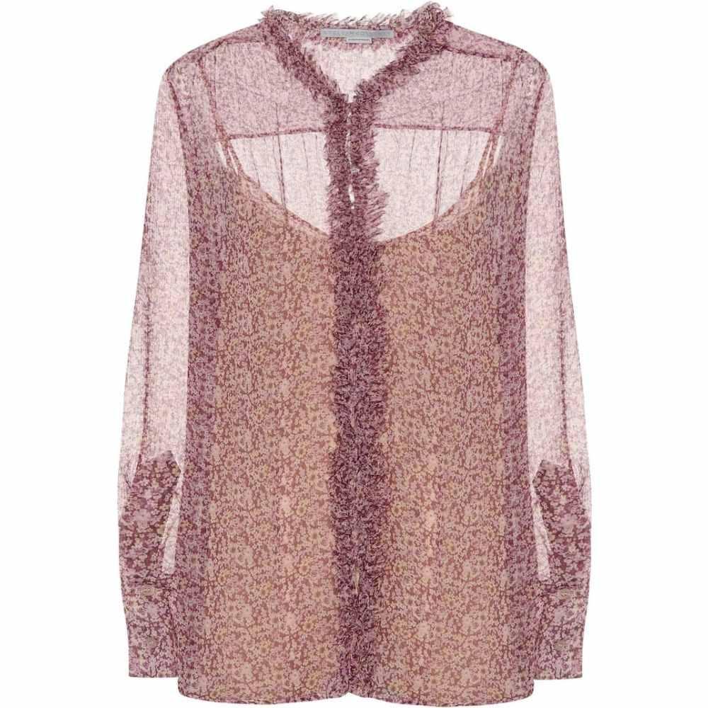 ステラ マッカートニー Stella McCartney レディース ブラウス・シャツ トップス【Floral silk blouse】Multi Violet