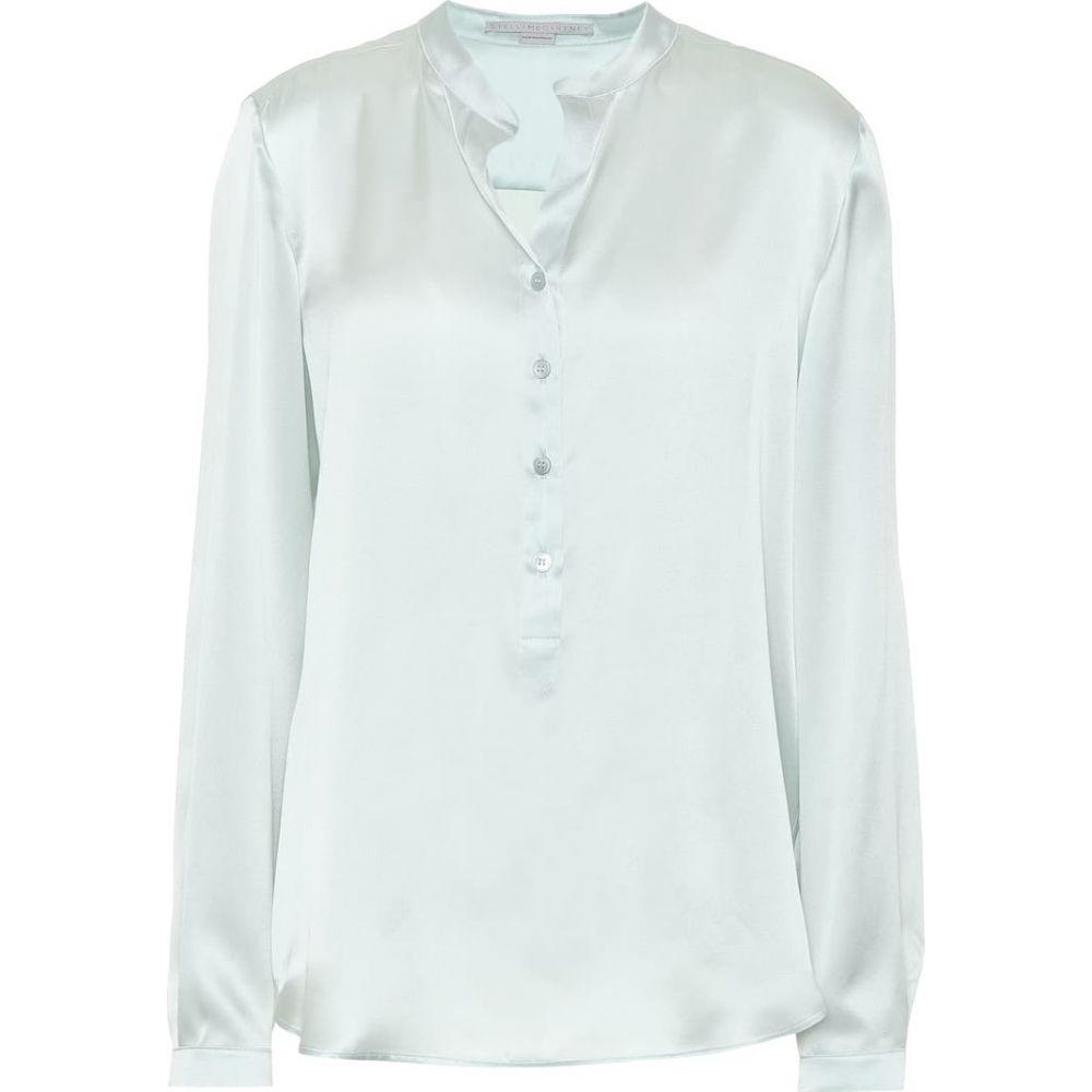 ステラ マッカートニー Stella McCartney レディース ブラウス・シャツ トップス【Silk satin blouse】Light Mint