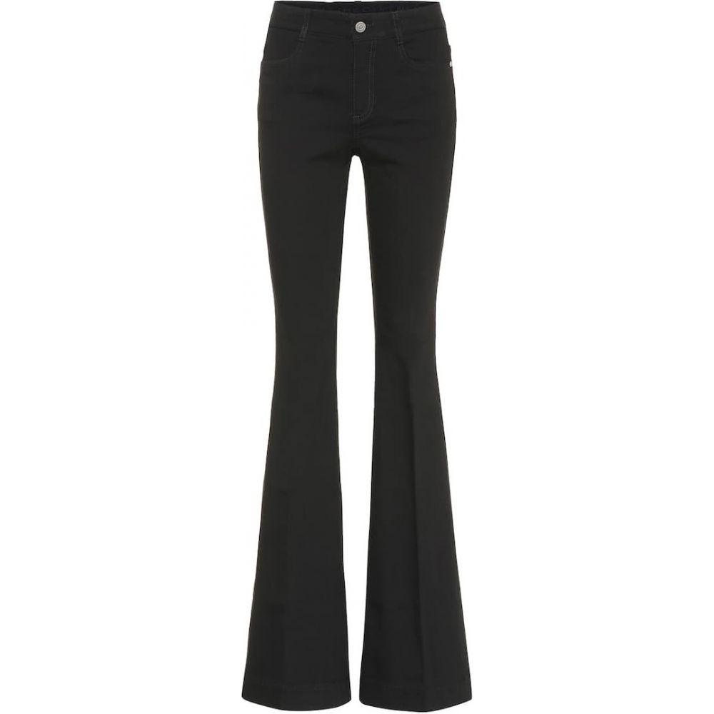ステラ マッカートニー Stella McCartney レディース ジーンズ・デニム ブーツカット ボトムス・パンツ【High-rise bootcut jeans】Pitch Black