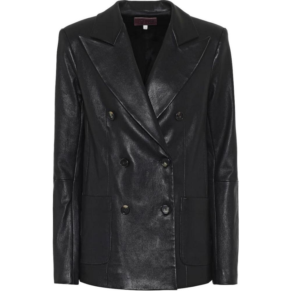 ストールス Stouls レディース レザージャケット アウター【Jones leather blazer】Noir