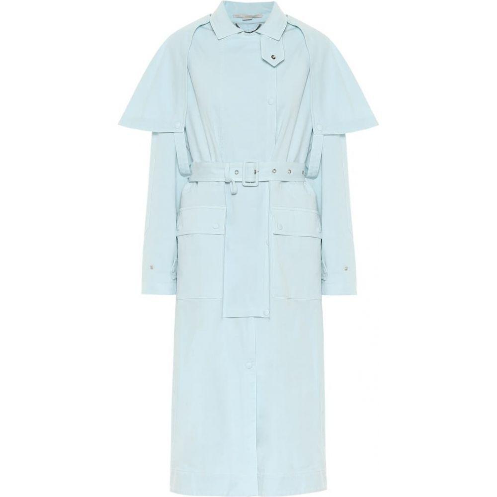 ステラ マッカートニー Stella McCartney レディース トレンチコート アウター【Stacey stretch-cotton trench coat】Light Mint