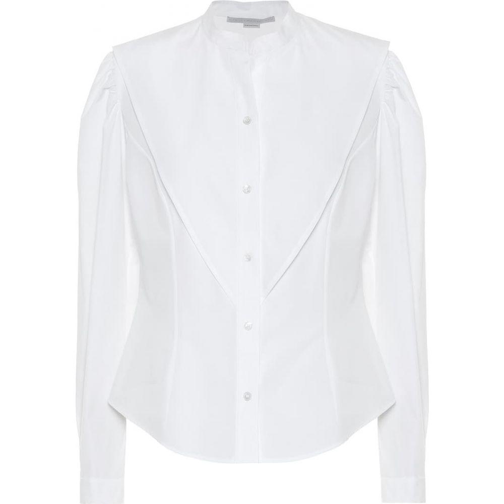 ステラ マッカートニー Stella McCartney レディース ブラウス・シャツ トップス【Cotton-poplin shirt】Pure White