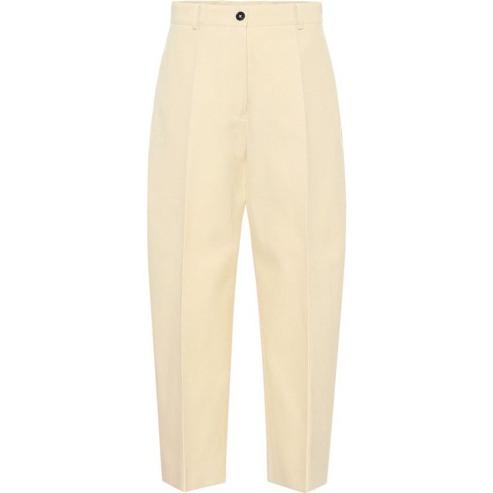ジル サンダー Jil Sander レディース ボトムス・パンツ 【High-rise cotton-blend pants】Light Beige
