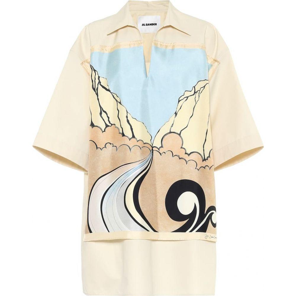 ジル サンダー Jil Sander レディース ブラウス・シャツ トップス【Printed silk-trimmed cotton shirt】Light/Pastel Pink