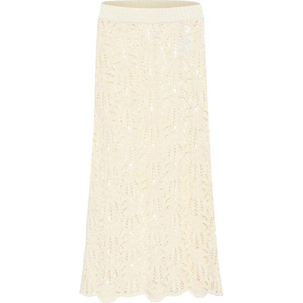 ジル サンダー Jil Sander レディース ひざ丈スカート スカート【Crochet lace midi skirt】Natural