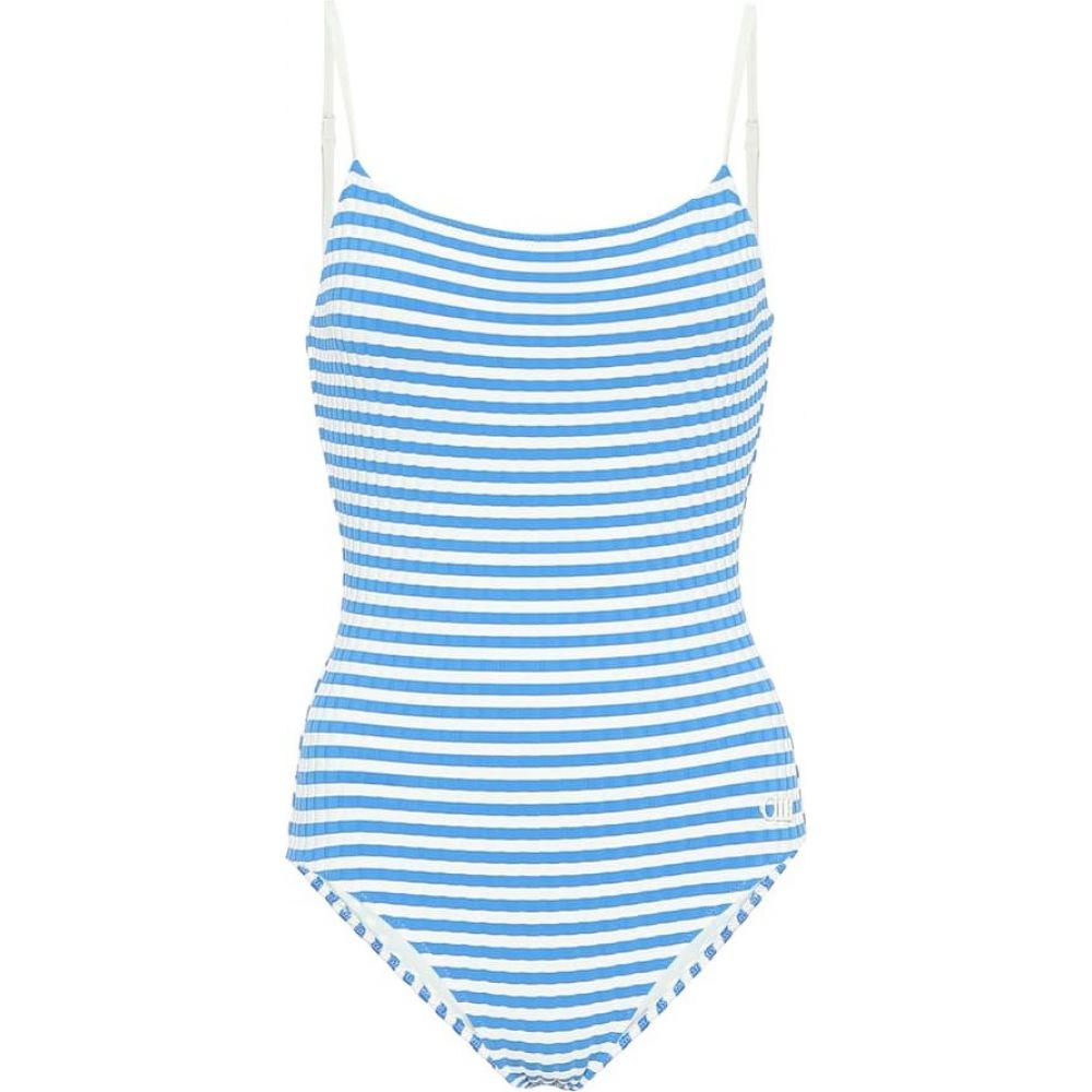ソリッド&ストライプ Solid & Striped レディース ワンピース 水着・ビーチウェア【The Nina striped swimsuit】Blue Cream
