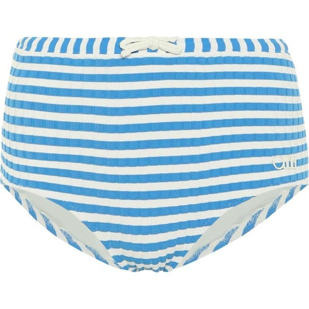ソリッド&ストライプ Solid & Striped レディース ボトムのみ 水着・ビーチウェア【The Ginger striped bikini bottoms】Blue Cream