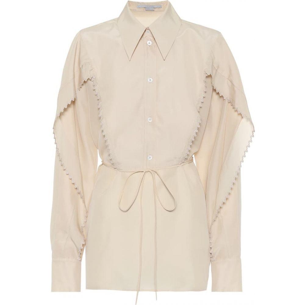 ステラ マッカートニー Stella McCartney レディース ブラウス・シャツ トップス【Tayla silk-georgette shirt】Oyster