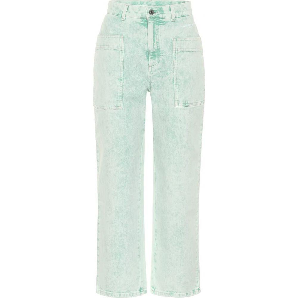 ステラ マッカートニー Stella McCartney レディース ジーンズ・デニム ボトムス・パンツ【High-rise straight jeans】Green Galaxy