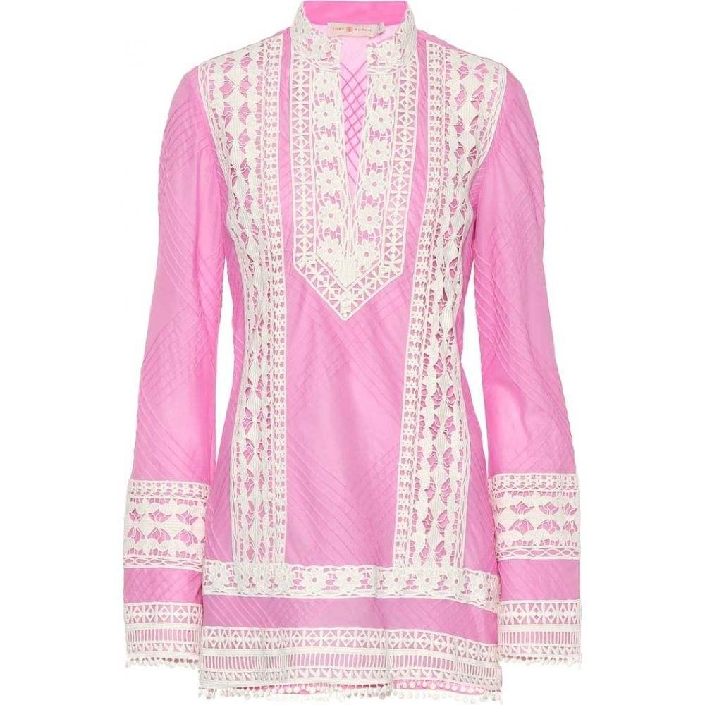 トリー バーチ Tory Burch レディース チュニック トップス【Rachel cotton tunic】Magnolia Pink