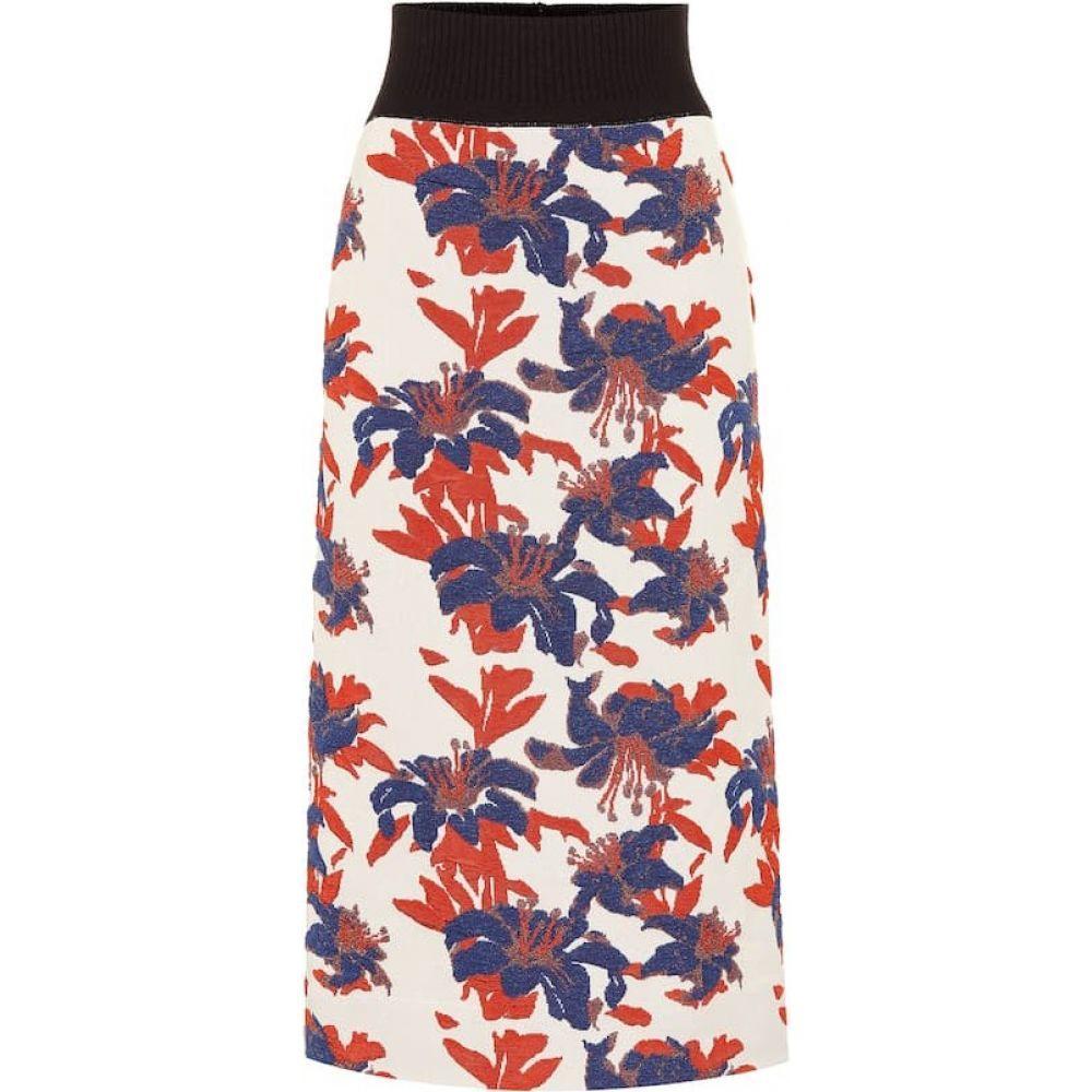 ドリス ヴァン ノッテン Dries Van Noten レディース スカート 【Brocade knit skirt】ecru