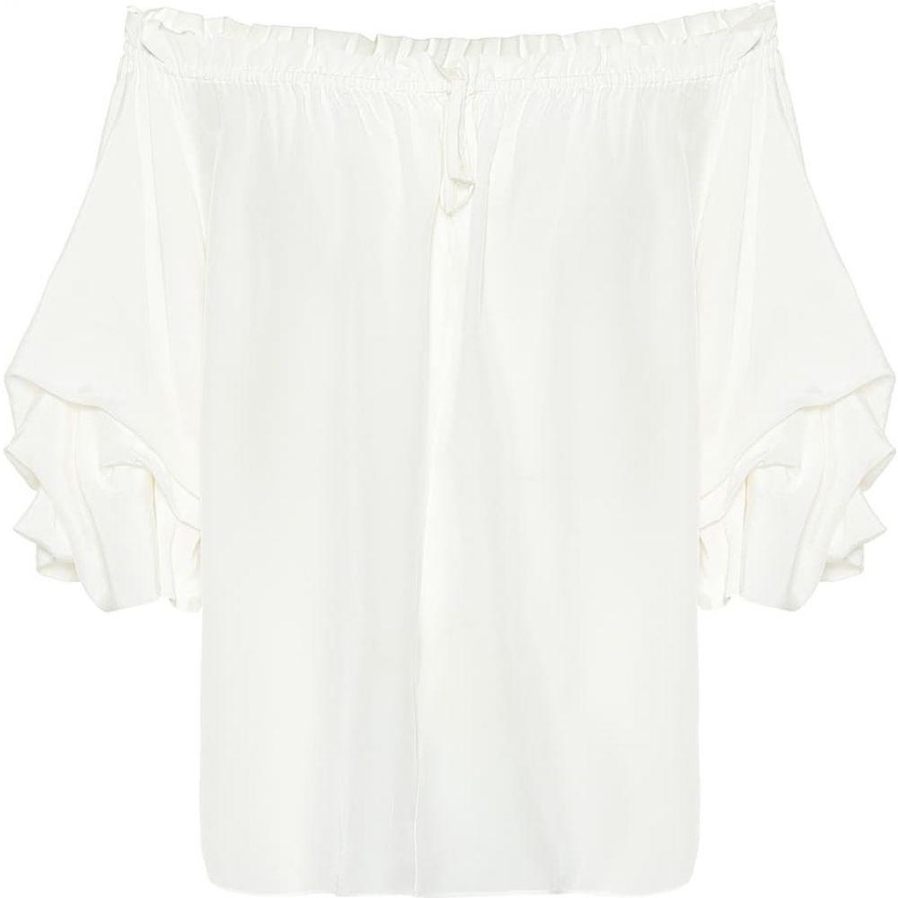 ダイアン フォン ファステンバーグ Diane von Furstenberg レディース ブラウス・シャツ トップス【Georganne silk crepe blouse】Ivory