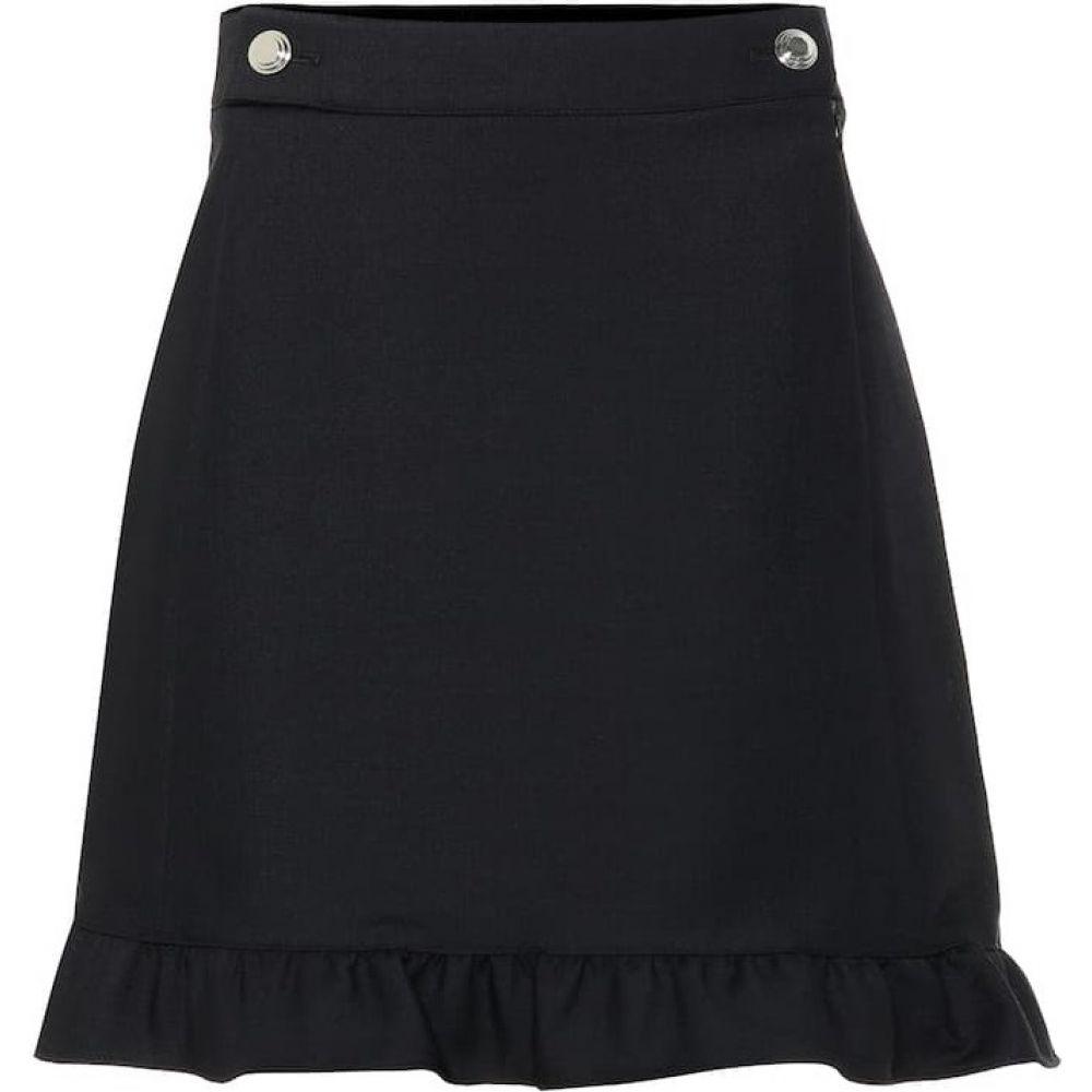 トリー バーチ Tory Burch レディース ミニスカート スカート【Stretch-wool miniskirt】black