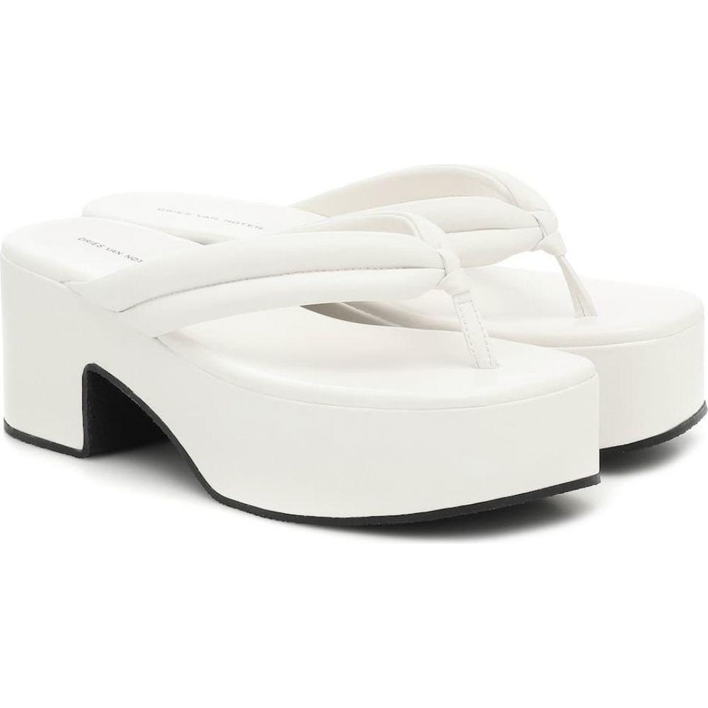 ドリス ヴァン ノッテン Dries Van Noten レディース サンダル・ミュール シューズ・靴【Leather platform sandals】White