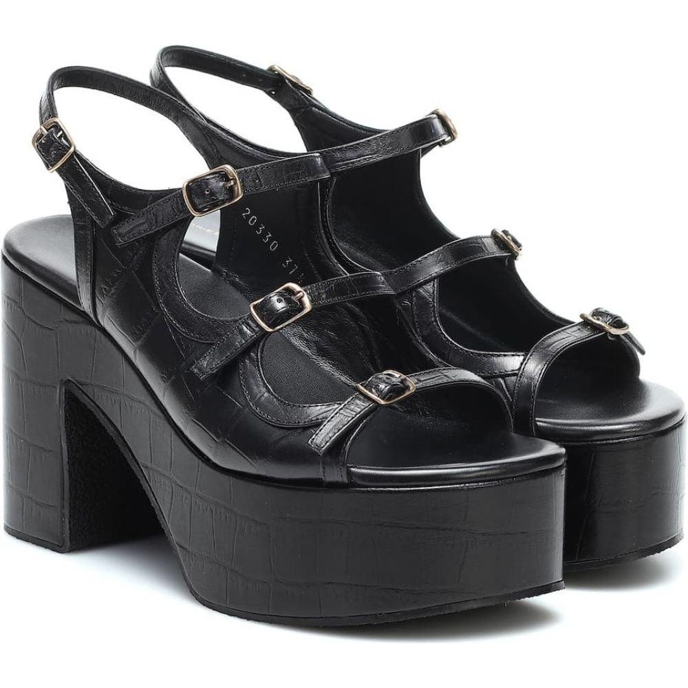 ドリス ヴァン ノッテン Dries Van Noten レディース サンダル・ミュール シューズ・靴【Croc-effect leather platform sandals】Black