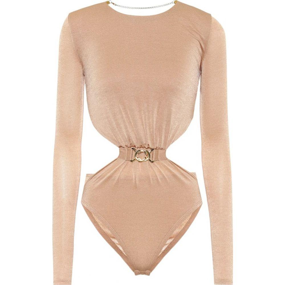 ドド バー オア Dodo Bar Or レディース ボディースーツ インナー・下着【Cut-out stretch-crepe bodysuit】Nude