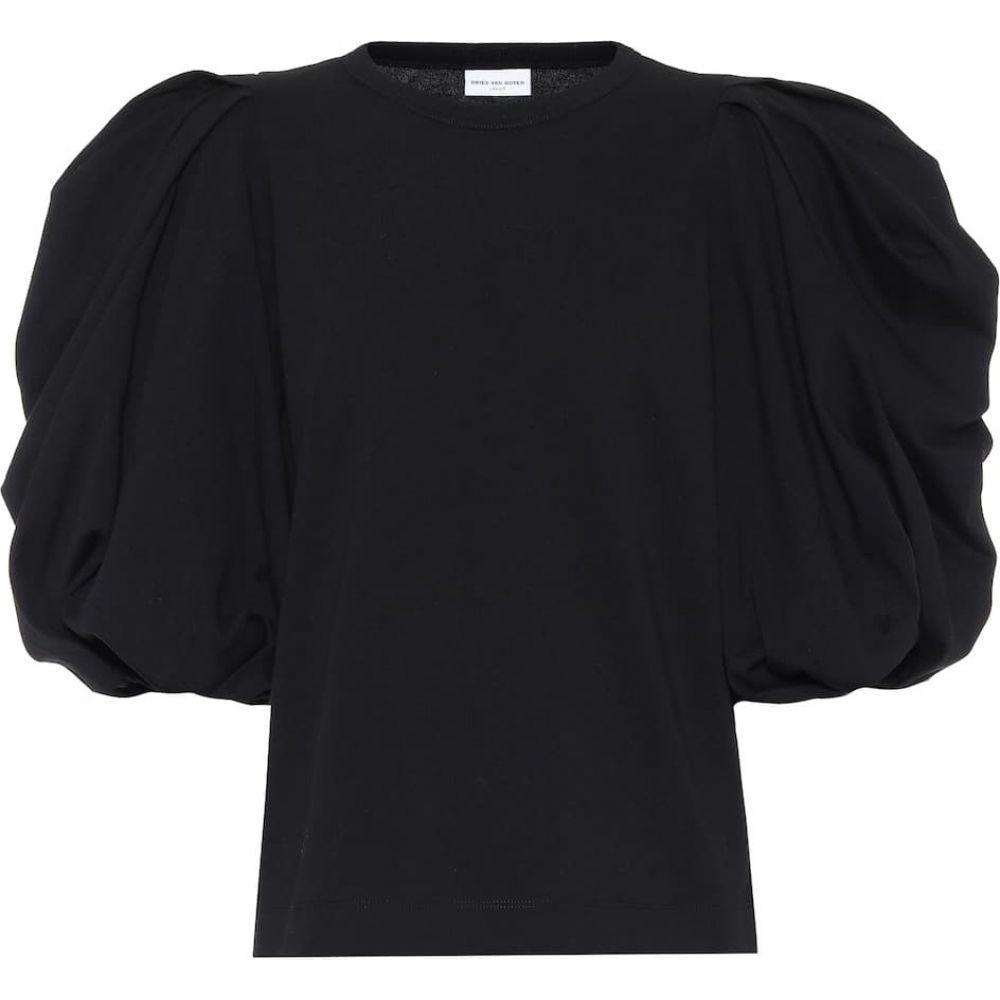 ドリス ヴァン ノッテン Dries Van Noten レディース ブラウス・シャツ トップス【Puff-sleeve cotton blouse】Black