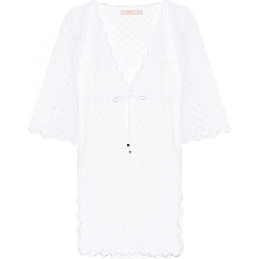 トリー バーチ Tory Burch レディース ワンピース ワンピース・ドレス【Cotton broderie anglaise minidress】White